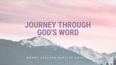 Journey Through God's Word With Us